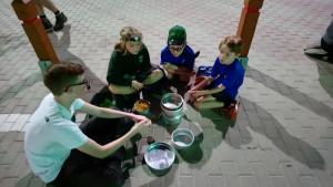 pasta making cub camp 2